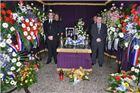 Pokopan dr Marijan Jergović, snimka komemoracije u Pitomači