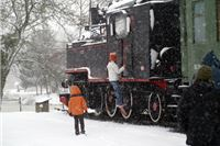 Mali vlak u snijegu iz Velikog sela bilogorskog