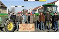 Podravska magistrala prolazna, na D5 prema Mađarskoj traktori