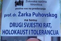 Ljubo R. Weiss: Tko nam dolazi  u Viroviticu? Profesor doktor Žarko Puhovski, britka uma, zanimljiv, hrabar…