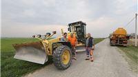 Počeli radovi na asfaltiranju dionice Zvonimirovo – Lipovac