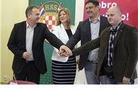 SDP, HSS, HNS i HSU potpisali koalicijski sporazum za izbore u županiji, Zdravko Dijaković kandidat za župana