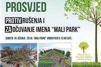 PROSVJED VIROVITIČANA 10. OŽUJKA TOČNO U PODNE: Ne želimo rušenje Malog parka – ovakvog ga želimo ostaviti našoj djeci