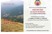 """U nedjelju promocija knjige """"Kroz rat i mir - od vojnika do bojnika"""" Serfeta Cirikovića Cireta"""