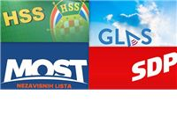 Na izbore za mjesne odbora zajedno izlaze MOST, GLAS, HSS i SDP: Izađite i glasujte, vrijeme da počnemo rušiti HDZ