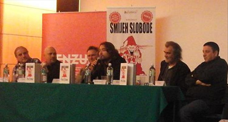 Promocija Smijeha slobode u Splitu: Feral Tribune je ve�i od Charlie Hebdoa koji je radio u lak�im uvjetima
