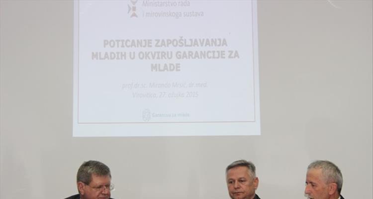 Predstavljene mjere za poticanje zapo�ljavanja mladih u HGK � �upanijskoj komori Virovitica