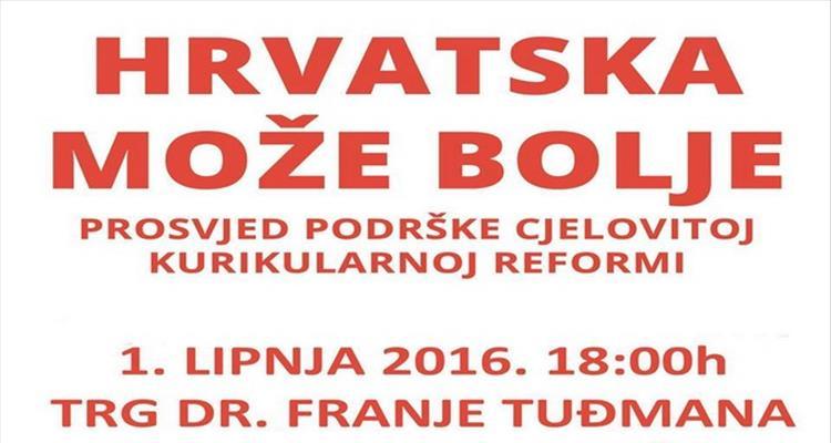 Poziv na prosvjed protiv ukidanja kurikularne reforme