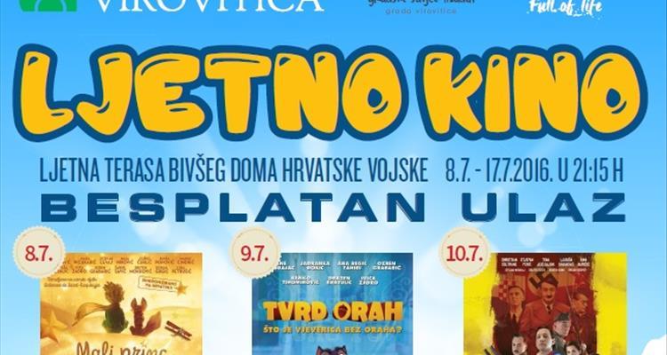 Od 8. do 17. srpnja Ljetno kino na terasi bivšeg Doma HV-a