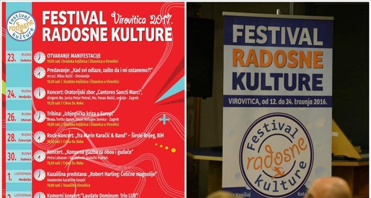 """Virovitički Centar civilnih inicijativa """"Spajalica"""" najavljuje treće izdanje Festivala radosne kulture u Virovitici"""