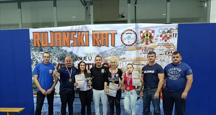 Powerlifting klub Virovitica na II. Rujanskom ratu u Šibeniku osvojio 7 medalja