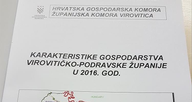 Publikacija Karakteristike gospodarstva Virovitičko-podravske županije - dobar vodič za potencijalne investitore