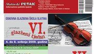VI. Glazbeni tjedan Osnovne glazbene škole Slatina