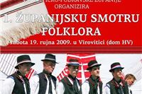 Danas 1. Županijska smotra folklora