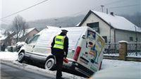 Snijeg prouzročio četiri prometne nezgode