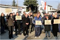 Radnici propale tvrtke Inpo grupa i Gaj prosvjedovali zbog spore države