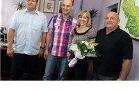Župan Tomislav Tolušić i gradonačelnik Ivica Kirin čestitali Mirni Šenjug na europskom zlatu