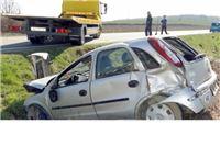 Umorna vozačica sletjela u jarak i završila u bolnici