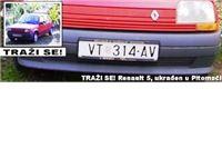 Traži se Renault 5, ukraden u Pitomači