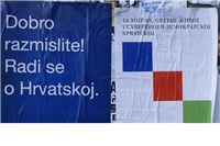 Provokacija: Tijekom noći polijepljeni SDP-ovi plakati s porukama na ćirilici