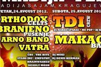 Vatra na pop-rock festivalu Šumadija fest u Kragujevcu