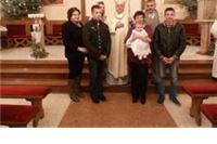 Krštenje petog djeteta u virovitičkoj obitelji Đurović
