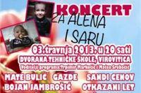Večeras humanitarni koncert za Alena i Saru
