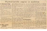 Umjesto nekrologa: Vjekoslav Kozjak, humoristički zapisi iz sudnice