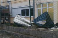 Jak vjetar kidao grane sa drveća, letjeo i krov škole Marka Marulića