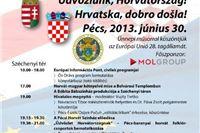 Pečuh: Proslava ulaska Hrvatske u EU - Hrvatska, dobro došla!
