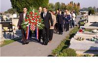 Povodom Dana neovisnosti Republike Hrvatske položeni vijenci