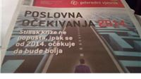 Posebno izdanje Privrednog vjesnika: Poslovna očekivanja 2014.