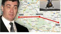 Vremenske neprilike zaustavile premijera Milanovića nad Viroviticom