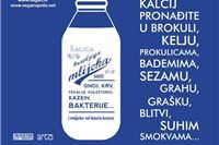 Zapanjujuće činjenice o mlijeku na jumbo-plakatima!