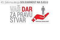 Danas akcija Solidarnost na djelu, Crveni križ prikuplja odjeću, obuču, hranu i novac