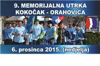 U nedjelju 9. memorijalna utrka Kokočak – Orahovica