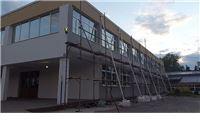 Radovi na novoj fasade zgrade Srednje škole Marka Marulića u Slatini
