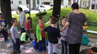 Na Dan pobjede  i Dan Europe djeca oslikala šetnicu i pustila balone u zrak