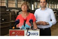 Na farmi muznih krava predstavljena koalicija HDSSB-a i HKS-a ua 4. izbornu jedinicu:  Sramotno je da Hrvatska nije povukla 1,2 milijardi eura iz europskih fondova, namijenjenih poljoprivredi