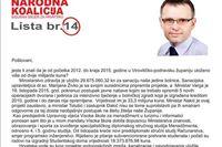 Tomislav Žagar građanima poslao pismo: jeste li znali da je od početka 2012.do kraja 2015. godine u Virovitičko-podravsku županiju uloženo više od dvije milijarde kuna?