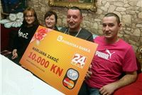 Marijana Zakoč iz Virovitice jednim SMS-om osvojila deset tisuća kuna