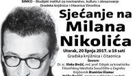 Večeras u Gradskoj knjižnici i čitaonici spomen na Milana Nikolića