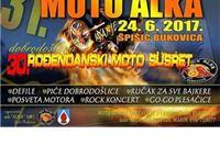 Raspored događanja 31. Moto Alke i 30. rođendana Moto kluba ˝ALKA˝ Špišić Bukovica