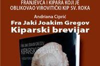 Večeras promocija monografije  Kiparski brevijar fra Joakima Jakija Gregova, autora virovitičkog kipa sv. Roka