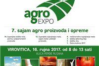 Danas 7. sajam agroproizvoda i opreme Agroexpo 2017