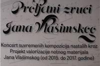 Večeras koncert suvremenih kompozicija nadahnutih djelima Jana Vlašimskog