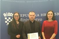 Profesor Siniša Brlas dobio važno priznanje Ministarstva pravosuđa