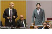 """Tolušić Sinčiću: Financiraju vas šverceri! Sinčić Tolušiću: """"Bahatost Vam neće..."""
