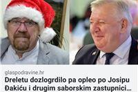 Bravo Drele:  Voditelj programa Davor Dretar bahatag Đakića upozorio na nekulturno ponašanje pa iz protesta napustio proslavu