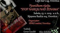 Večeras, 23. studenoga u Virovitici: Pjesničkom riječju: Stop nasilju nad ženama